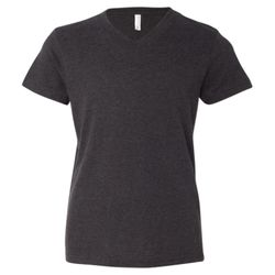 Bella 3005Y Youth Short Sleeve V-Neck Jersey Tee Thumbnail